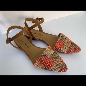 Lucky Brand Woven D'Orsay Flats / Sandals